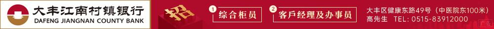 江苏大丰江南村镇银行股份有限公司