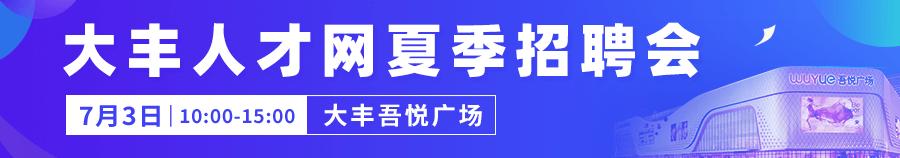 2021年大丰人才网夏季招聘会
